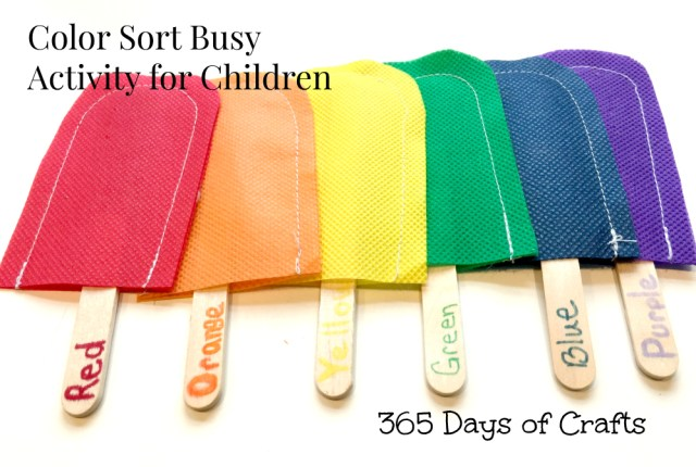 Color Sort Busy Activity for Children
