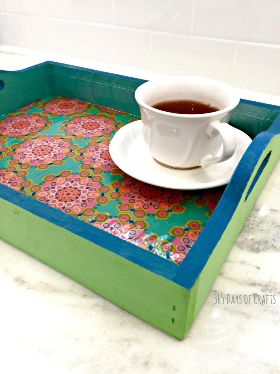 Mod Podge serving tray