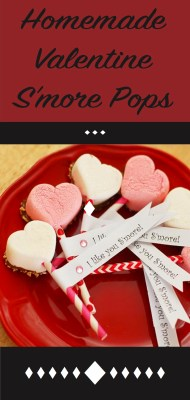 S'more pops for Valentine's day with recipe and tutorial