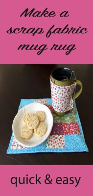 fabric scrap mug rug an easy sew project