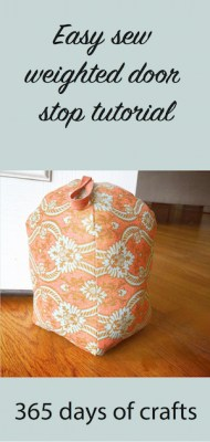 Make A Decorative Weighted Door Stop 365 Days Of Crafts
