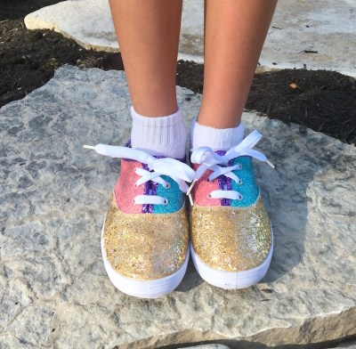 Be Sassy And Make Diy Glitter Shoes With Glitter Paint