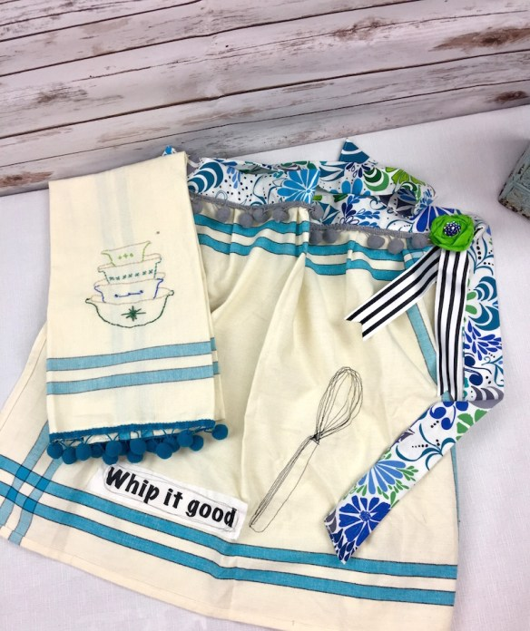Free Motion Sewing Apron And Kitchen Towel Gift Set 365 Days Of Crafts