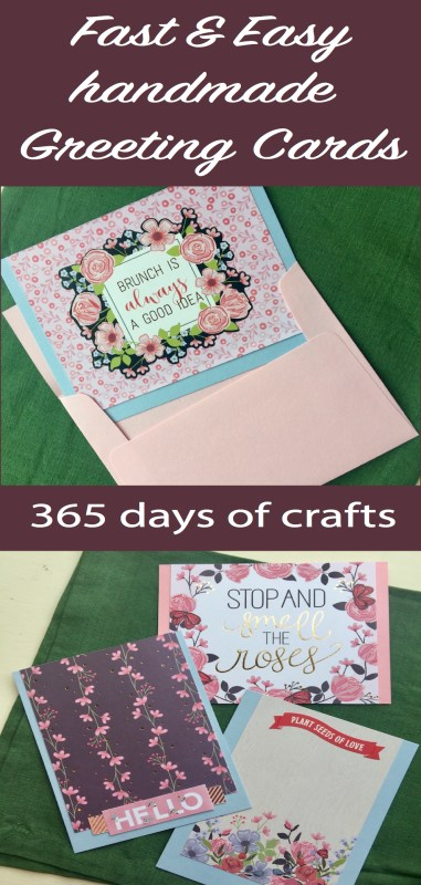 Fast and easy handmade greeting cards 365 days of crafts learn how to make pretty handmade greeting cards that are fast and easy m4hsunfo