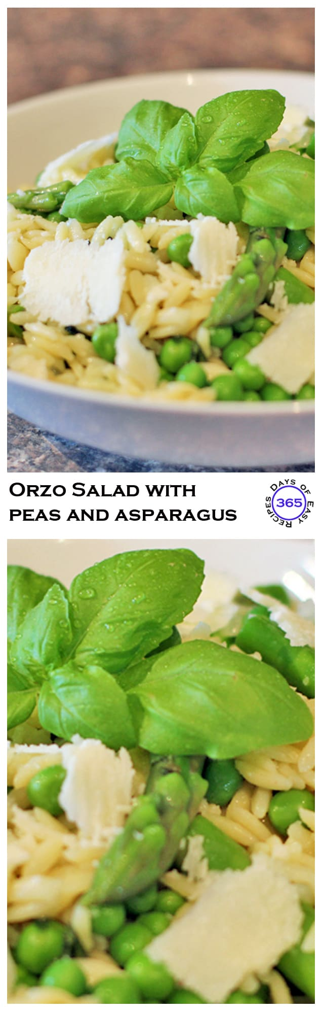Orzo Salad with Peas and Asparagus | 365 Days of Easy Recipes