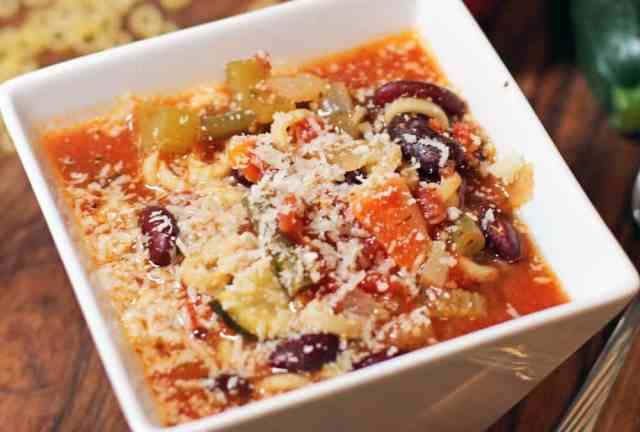 Healthy but hardy Italian Minestrone Soup. Perfect for those chilly days you just want a warm hug from the inside.