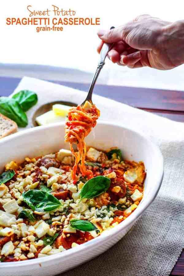 Sweet Potato Spaghetti Casserole
