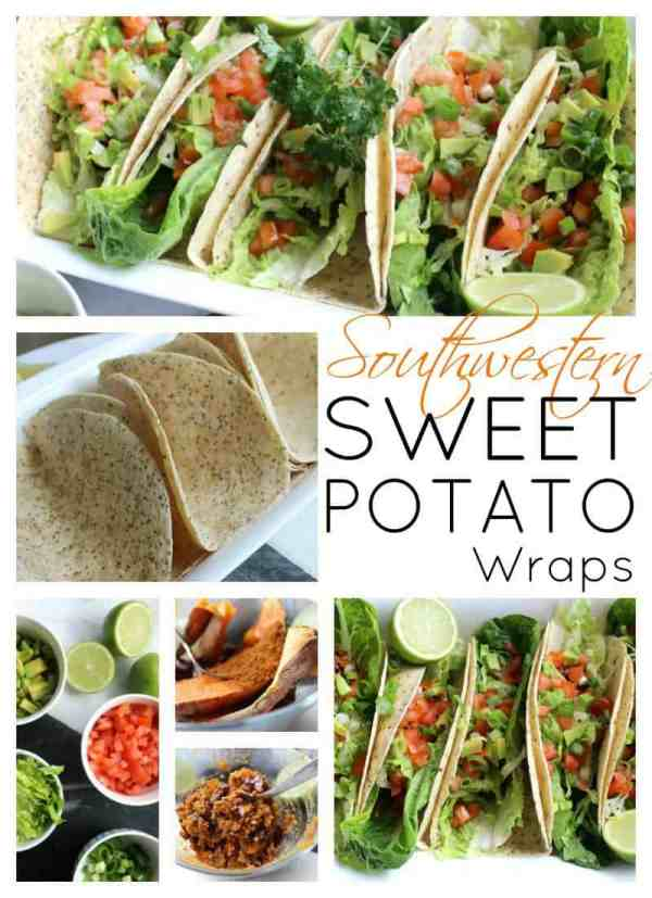 Southwestern sweet potato wraps