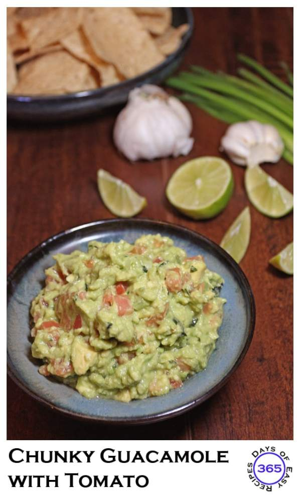 Chunky Guacamole with Tomato from 365 Days of Easy Recipes