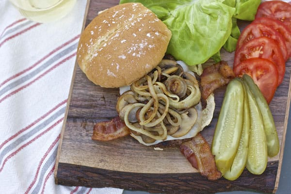 These are the BEST BBQ hamburgers you'll ever have AND they are topped with Mozza cheese, mushrooms, onions and bacon | 365 Days of Easy Recipes