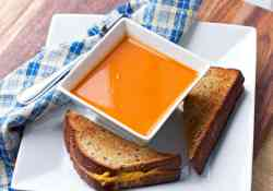 When Roasted Red Pepper and Tomato Soup is this easy to make, why would you want to buy the canned stuff? | 365 Days of Easy Recipes