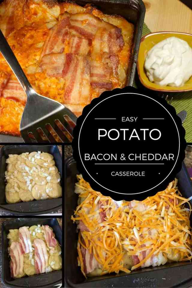 This easy potato bacon cheddar casserole recipe is perfect for holiday entertaining and potluck dinners | 365 Days of Easy Living