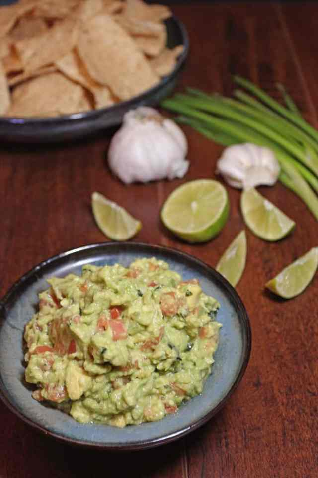 As a party appetizer or served along side fajitas, this Chunky Guacamole with Tomatoes is outstanding | 365 Days of Easy Recipes