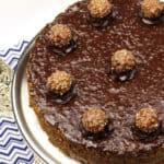 Ferrero Rocher Nutella Cheesecake and a Blog Anniversary