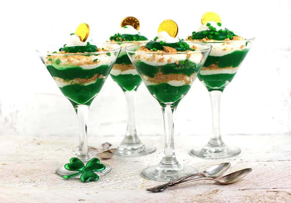 St. Patrick's Day Green Trifle