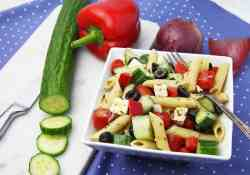 Greek Pasta Salad is perfect for meal planning or as a delicious BBQ side dish | 365 Days of Easy Recipes