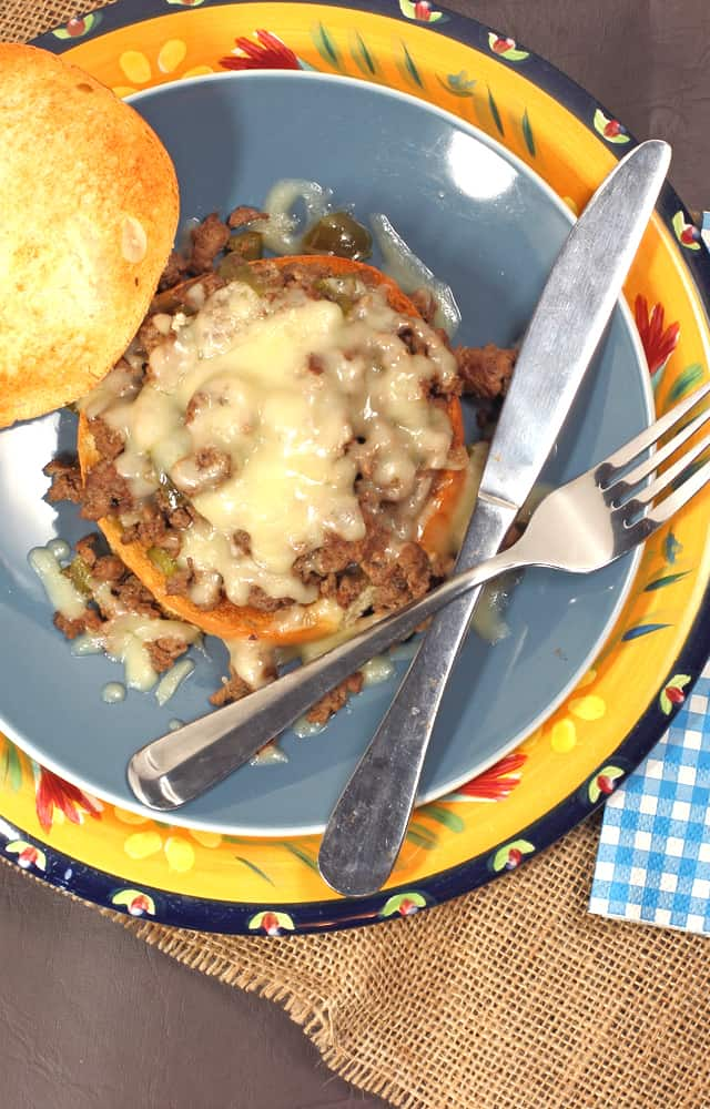 Philly Cheesesteak Sloppy Joe's using ground beef | 365 Days of Easy Recipes