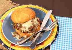 Philly Cheesesteak Sloppy Joe's using ground beef | 365 Days of Easy Recipes