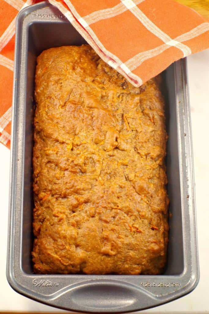 A healthy back to school snack for a parent win: Classic Carrot Bread from Food Meanderings