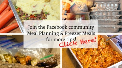 Join the meal planning & freezer meal community