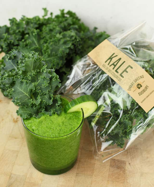 This Super Green Kale Smoothie will have you feeling like a million bucks!
