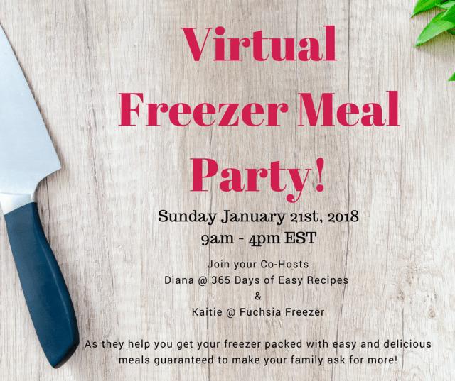 Virtual Freezer Meal Party