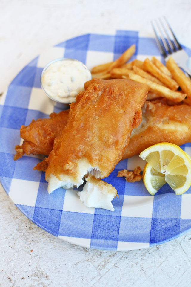 You're going to love this Crispy Beer Battered Fish recipe for family dinners or those summer back yard get togethers. The batter is not too thick but has the perfect crunch.