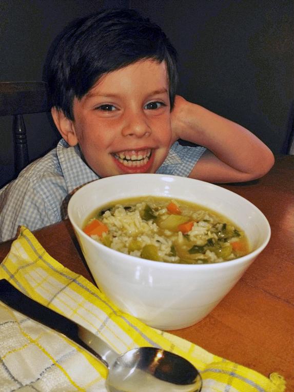 Spicy Joy Soup by Junior Chef Callum