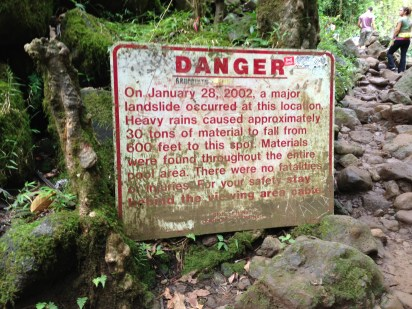 The sign at the falls.