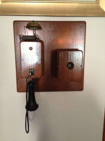 The king was very interested in technology and had a phone in his library to call various places on the grounds.