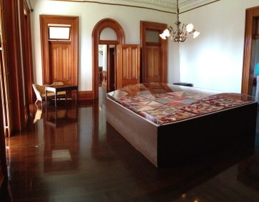 The room where Queen Lili`uokalani was imprisoned. She was allowed interaction with one lady in waiting.