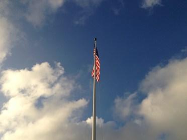 Flag Against the Sky