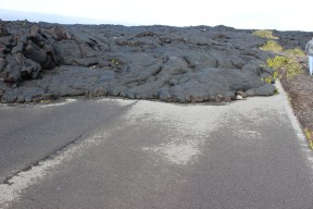 The road literally ends where lava started to pour over it. Incredible.