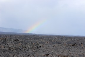 The rainbow was getting closer...signaling our time to start hiking back!