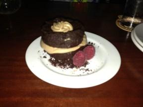 Chocolate cake at Du Vin