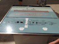 Map of the USS Arizona before it sank and after.
