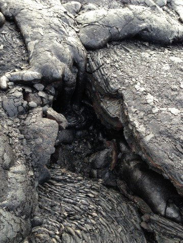 More hardened lava.