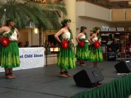 Some of the entertainment at the event.