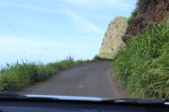 The road heading into Kahakuloa Village.