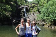 Laura, Colleen and I at the second waterfall.