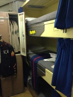 Marines bunking area.