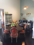 Dining area and my desk.