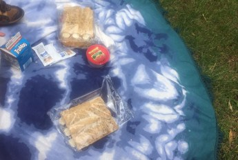 Enjoying a picnic on our Gypsy Roundie.