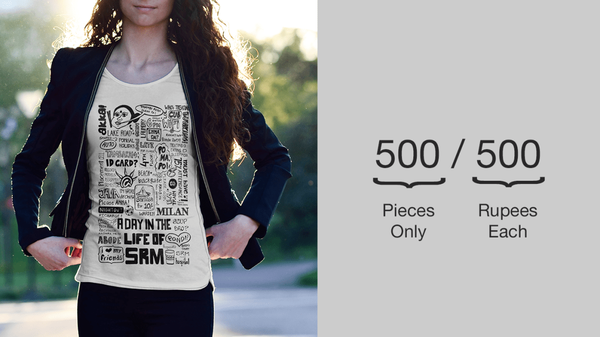 A day in the life of SRM T-shirt by 365 Degrees