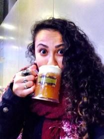 Cerveja amanteigada. Yummy!