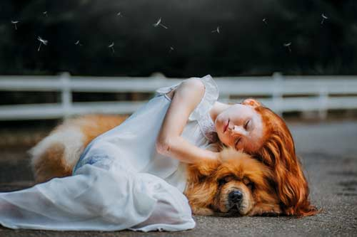 pictures of children with animals