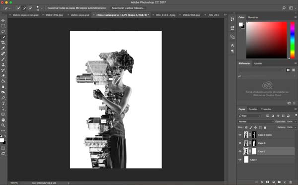step 11 of the double exposures tutorial