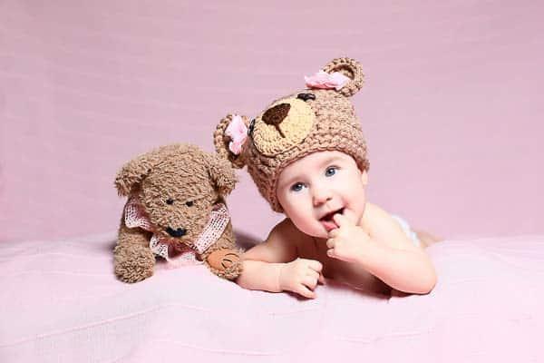 little boy with his stuffed animal
