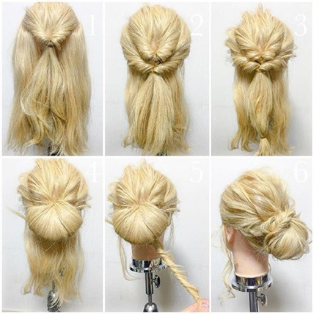 9 step-by-step Hairstyle Tutorials 03