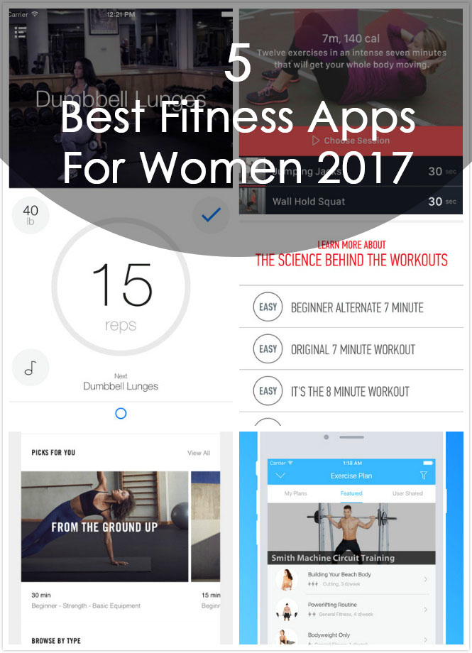 5 Best Fitness Apps For Women 2017